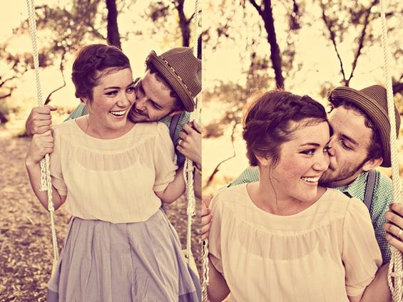 Ретро фотосесија на прекрасен љубовен пар
