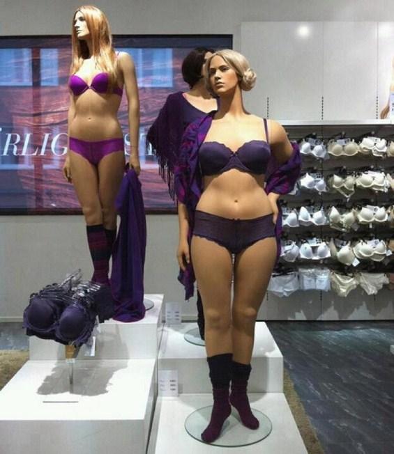Куклите на излозите во бутиците се здебелуваат?