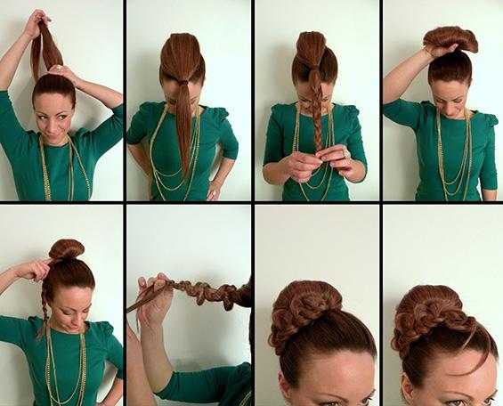 Направете си гламурозна фризура за неколку минути