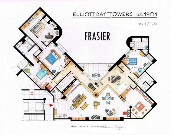 Нацрти на апартманите од најпопуларните ТВ серии