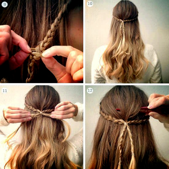 Направете фризура со цвет од плетенки