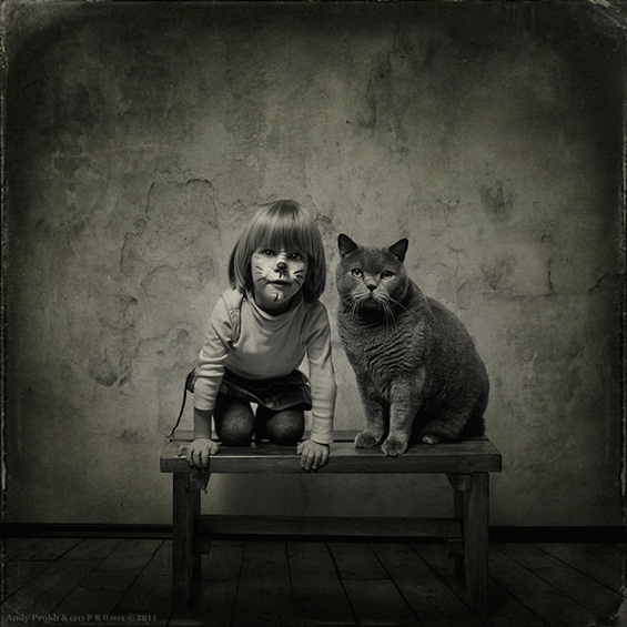 Девојчето и мачето - фотосесија која ќе ви го стопли срцето