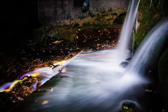 Неонски водопади кои сепак се од овој свет