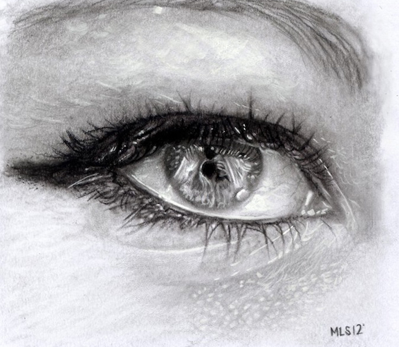 Рефлексија на тагата во човечките очи