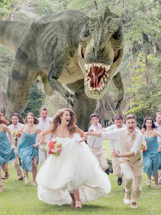 Откачена свадбена фотографија која вечно ќе се памти