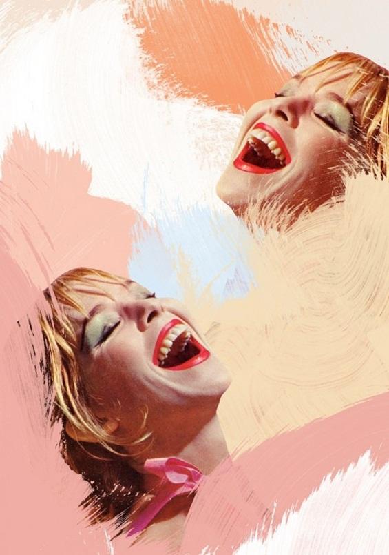 Колажи кои претставуваат микс од стилови, материјали и бои