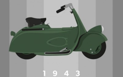 """Еволуцијата на """"Веспа"""" од 1943 до 2013 година"""