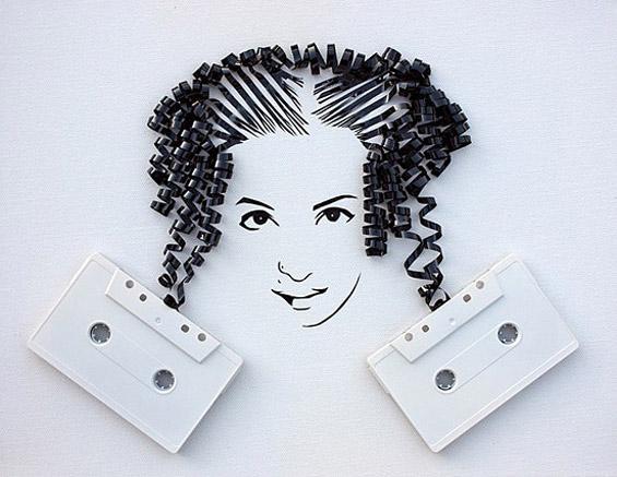 Неверојатна уметност од стари касети
