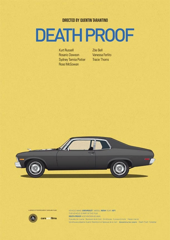 Постери со култни возила од филмски класици