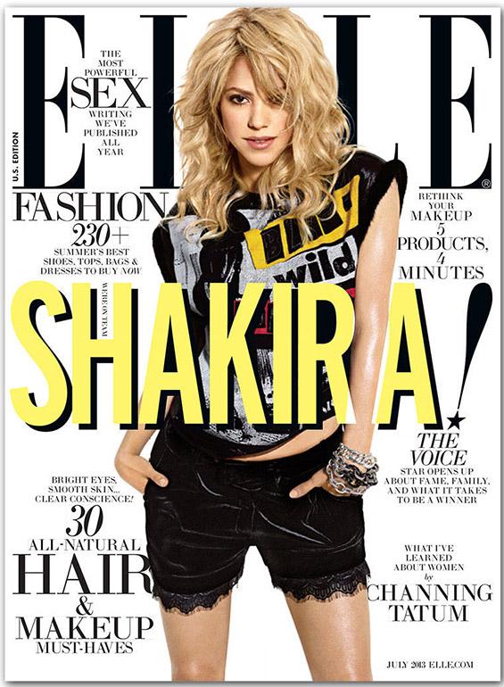 """Фотосесија со Шакира за насловната страна на магазинот """"Elle"""""""