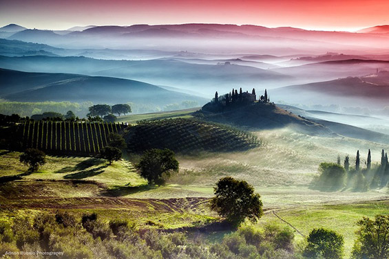 Призматични фотографии од прекрасната Тоскана