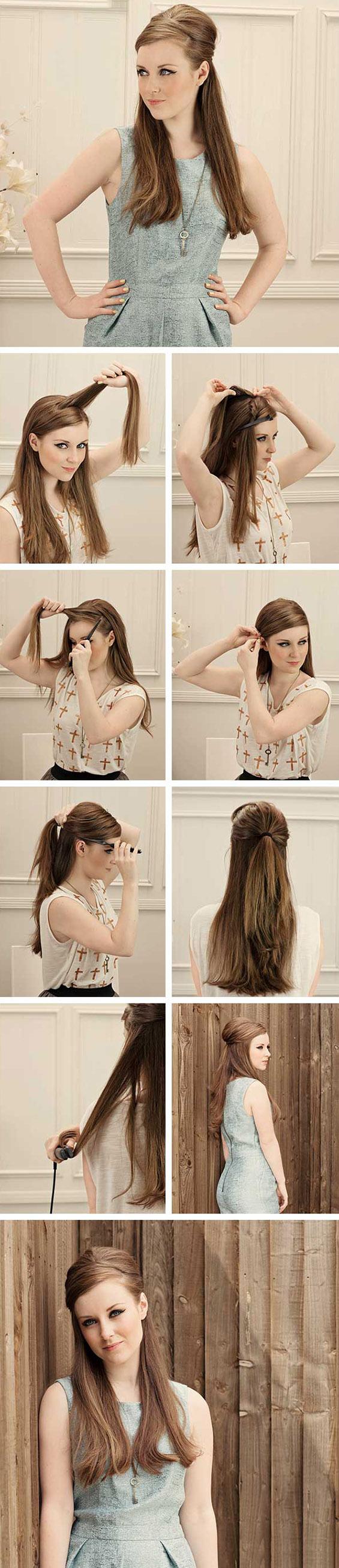 3 кежуал фризури со полуфатена коса