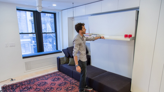 Мал стан во Њујорк кој се преобразува во голем број соби