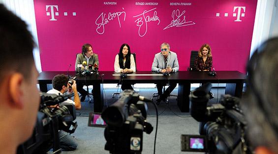 T-Mobile објави партнерство со Калиопи, Владо Јаневски и Венера Лумани