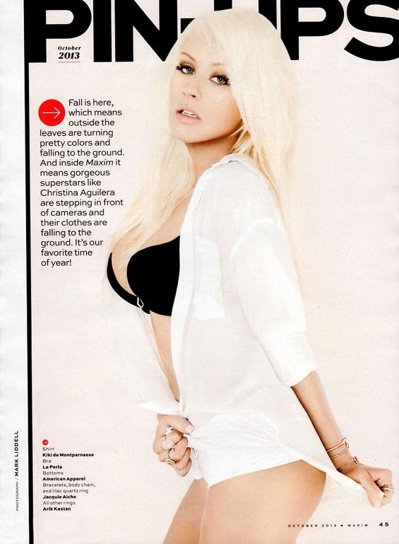 """Сексапилната Кристина Агилера во најновото издание на магазинот """"Maxim"""""""