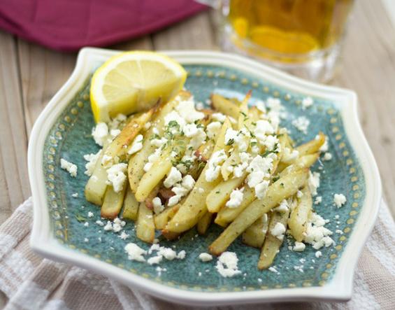 Крцкави печени компири со фета