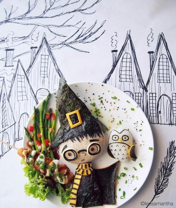 Мајка се прослави со нејзината уметност од храна