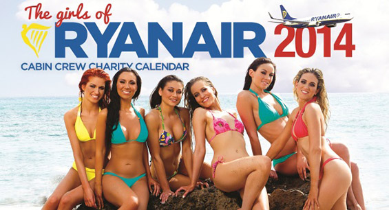 """Секси календар од стјуардесите на авиокомпанијата """"Ryanair"""""""