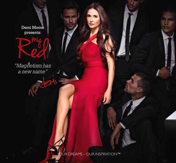 """My Red"" – сензуален парфем од холивудската дива Деми Мур"