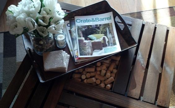 Направете сами: масичка од гајби за вино