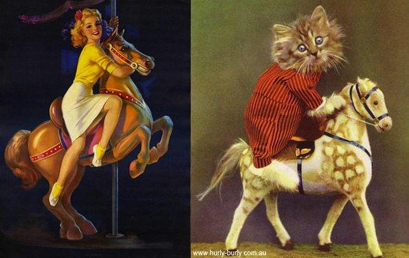 Мачки кои позираат како пин-ап девојки