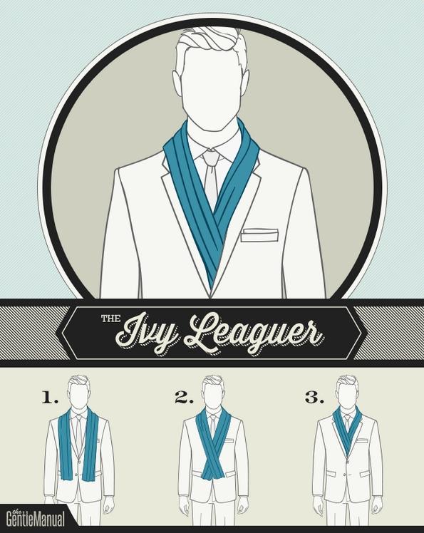 6 начини на врзување шал за мажи