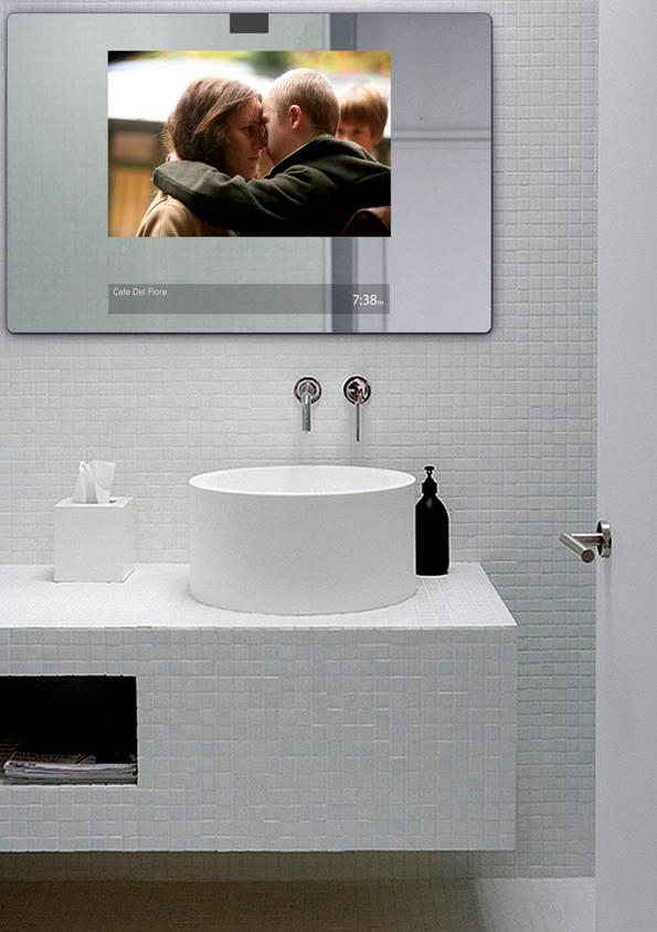 Паметно огледало кое прикажува филмови и пушта музика