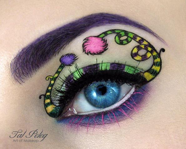 Креативни илустрации насликани на очните капаци