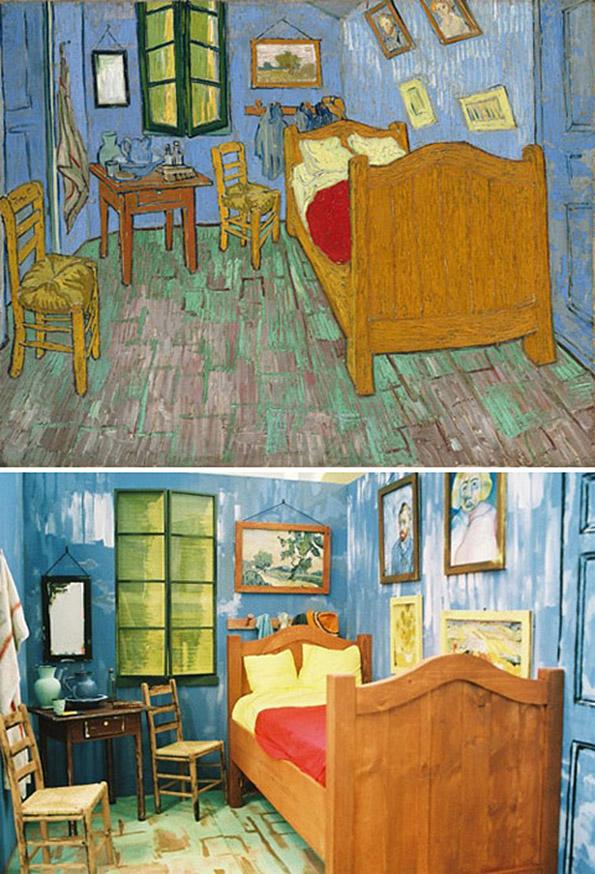 """""""Собата во Арл"""", Винсент ван Гог - преработено од Џошуа луис Сајмон"""