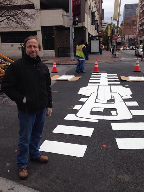 Уметнички пешачки премини ги разубавуваат крстосниците во Балтимор