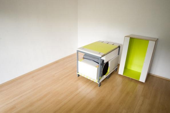 Целосна соба спакувана во една кутија