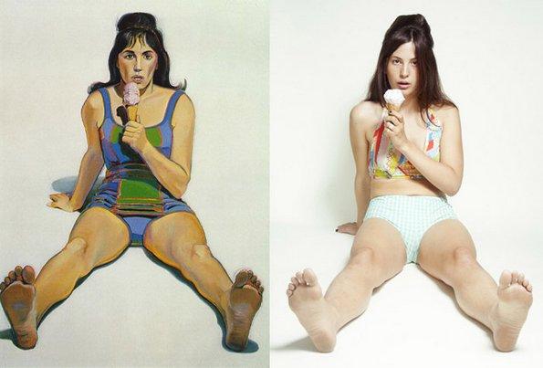"""""""Девојката со сладоледот"""", Вејн Тибу - преработено од Стефани Гоно"""
