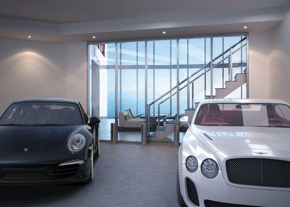 Зграда во која со автомобил можете да си влезете дома