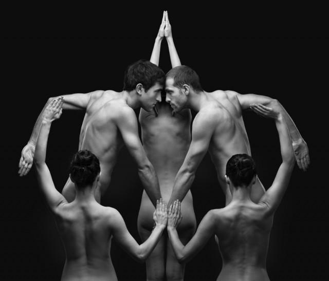 Оптичка илузија со голи тела