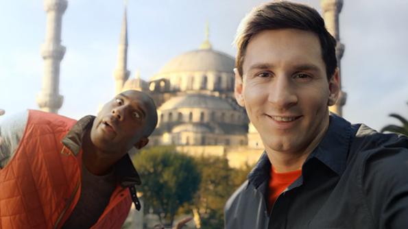 """Коби Брајант и Лајонел Меси во натпревар за најдобра """"селфи"""" фотка"""