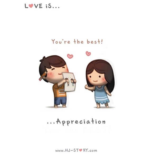 Љубовта илустрирана на наједноставен начин