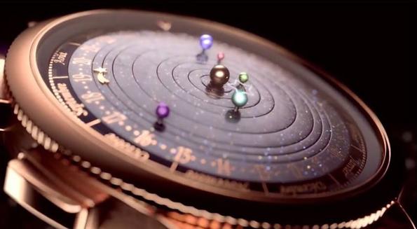 6 планети орбитираат околу Сонцето во иновативен часовник