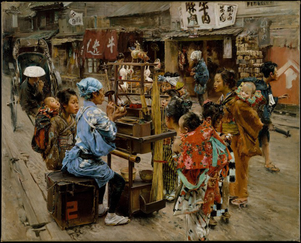 Импресивни цртежи кои покажуваат како изгледал животот на улиците во Токио при крајот на 19-ти век