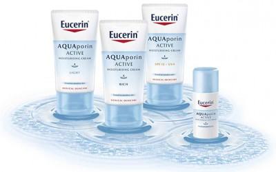 Eucerin AQUAporin ACTIVE ги активира природните хидратантни механизми на кожата