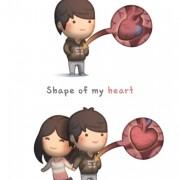 Обликот на моето срце