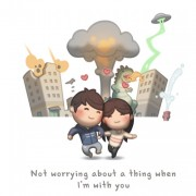 Да не се грижам за ништо кога сум со тебе