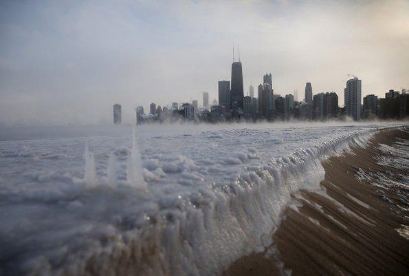 Погледнете како изгледа Чикаго под мраз
