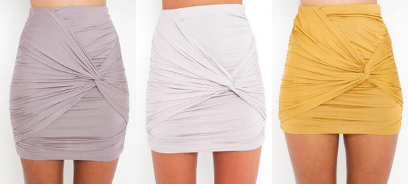 Нов моден тренд: мини здолништа со јазол