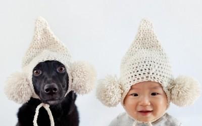 Преслатки портрети на 10-месечно бебе и неговото куче