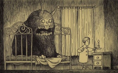 Артист црта застрашувачки сцени со чудовишта кои изгледаат како да се директно извлечени од детските кошмари