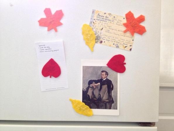 Направете сами: Магнети за фрижидер во форма на есенски лисја