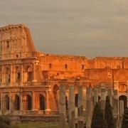 РИмскиот Колосеум на зајдисонце