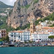 Поглед кон Салерно на Амалфскиот брег на југот на Италија