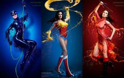 Фотограф со помош на боја трансформира прекрасни модели во суперхеројки