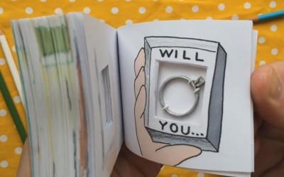 Креативен артистички начин да ја запросите вашата девојка